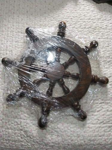 Timón Rústico Decorativo De Madera En Distintas Medidas