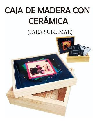 Caja Madera Con Cerámica Para Personalizar En Sublimación