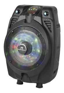 Parlante Portátil A.sonic As610 Luces Led Con Microfono Usb