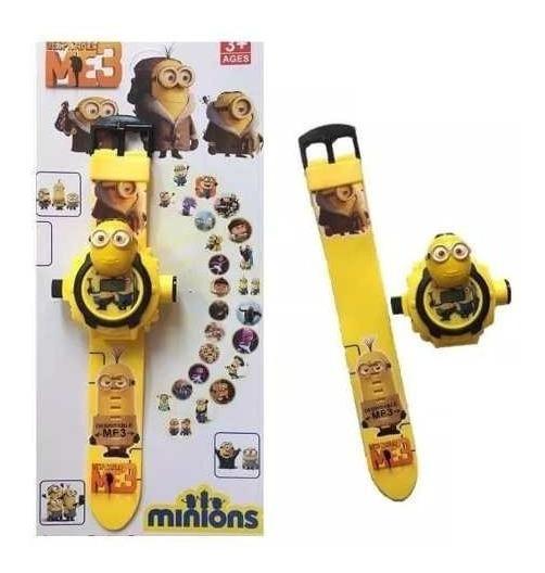Relógio Minions Com Projetor De Luz 24 Imagens Infantil