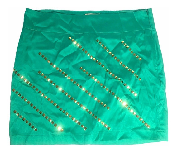 Saia Mini Verde Claro Lets By Jully Fashion Design Com Zíper