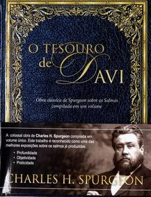 Charles Spurgeon Livro - O Tesouro De Davi - Capa Dura