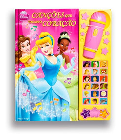 Livro Canções Que Tocam O Coração - Princesas Disney