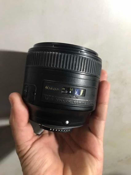 Lente Nikon Afs Nikkor 85mm 1.1.8 G Como Descrito Nas Fotos!