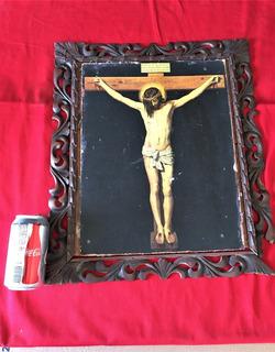 Pintura Antigua El Cristo De Velazquez