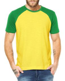 483eba0334 Kit 5 Camiseta Raglan Algodão Combo Lisa Manga Colorida