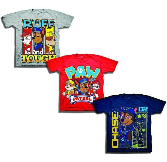 3 Camisetas Para Niños Paw Patrol Nickelodeon