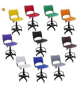 Cadeira Caixa Secretária Alta Iso | 10 Cores A Escolher