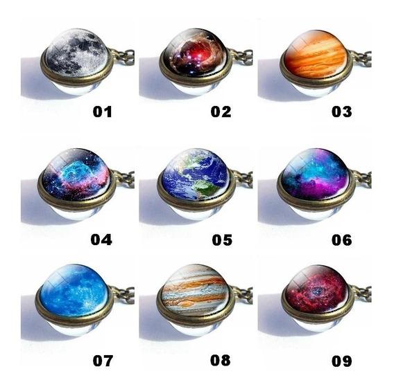 Colar Galaxia, Planeta, Diversos Modelos - Pronta Entrega