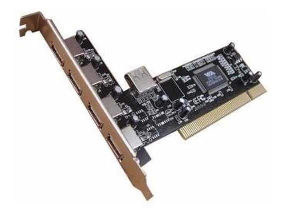 Placa Pci To Usb Card 4 + 1 Port Card 480mbps