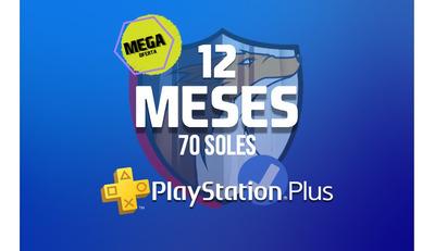 Ps Plus Playstation 12 Meses 1 Año Oferta Promoción Para Ps4