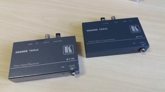 Kramer 661t / 661r- Kit Conversor Vídeo Analógico Para Fibra