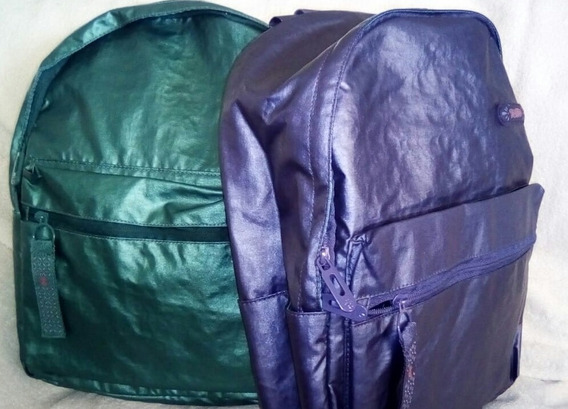 2 Mochilas Marca Totto De Color Verde Azul Metalicox $1850