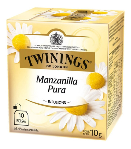 Te Twinings Manzanilla Caja X 10 Saquitos Exquisito Nuevo!