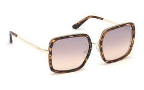 8d298aad5b Oculos De Sol Guess Gu7602 52f Quadrado Dourado Marrom