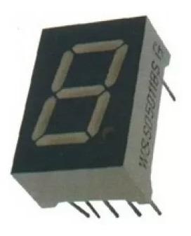 10 X Display 7 Segmentos 0,56 Vermelho Catodo Comum Arduino