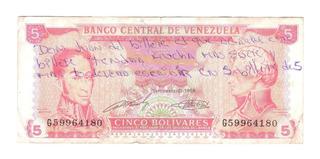 5 Bolívares Serie G Del 21-09-1.989 Y Serie N 03-02-2.011