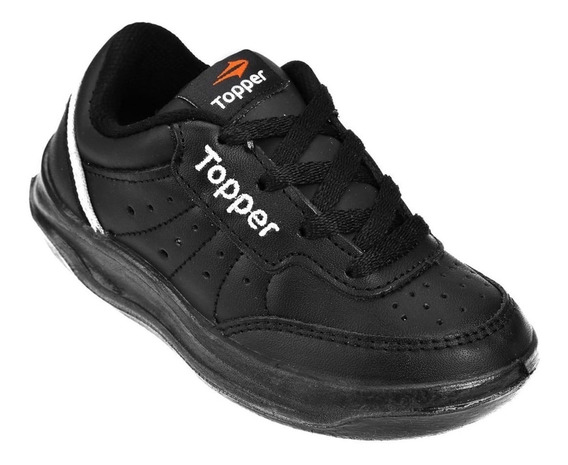 Zapatilla Topper X Forcer Kids 21883 Escolar Tenis Negro