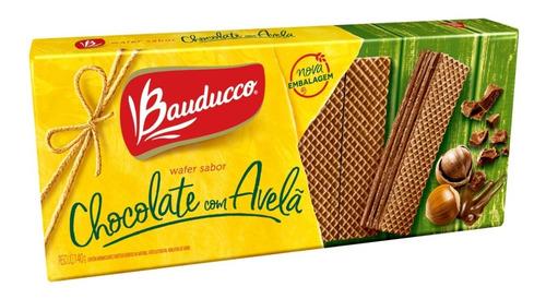 Bolacha Wafer De Chocolate Com Avelã Bauducco 140g