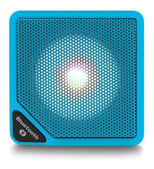 Caixa Som Cubo Speaker 3w Usb Bluetooth Aux Micro Sd Azul
