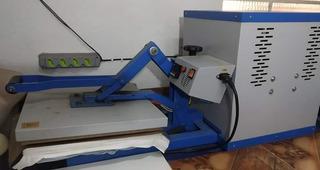 Chinelo Maquina De Corte De Borracha+prensa Térmica 38x38