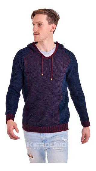 Sweater Con Capucha Hombre Saco Lana Moda Kierouno