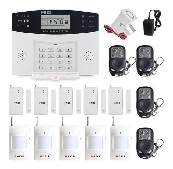 Kit Alarme Residencial Gsm Com Chip E Sensor Sem Fio