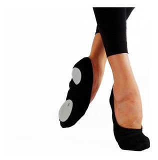 Zapatillas De Danza Media Punta Elastizadas Negra