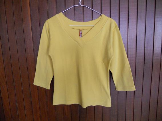 Sweater Blusa Dama Cuello V Manga Larga