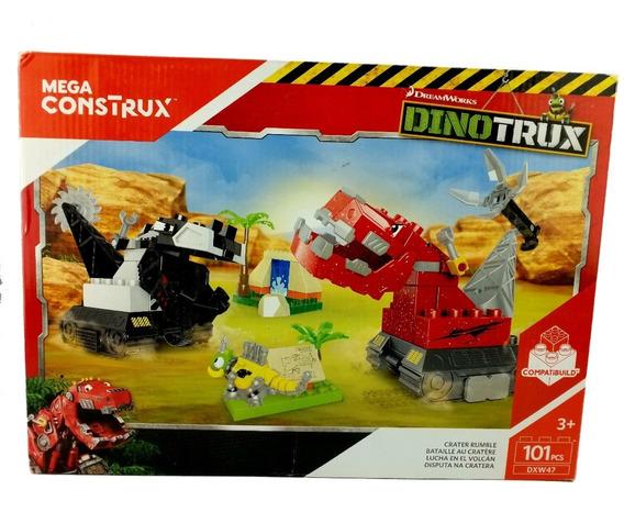 Dinotrux Lucha En El Volcan 101 Pz Mega Construx