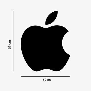 Adesivo De Parede Logo Marcas Celular Apple Samsung Asus