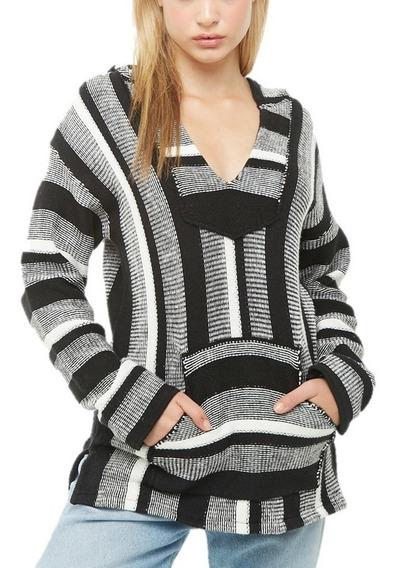 Sweater Dama Tejido De Punto Negro Blanco Forever 21 Moda