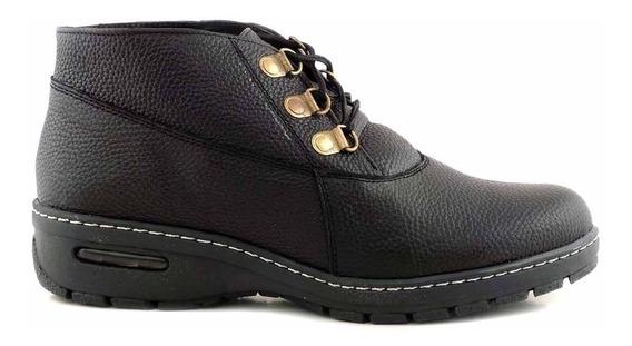 Bota Borcego Cuero Zapato Mujer Briganti Botita Mcbo24679
