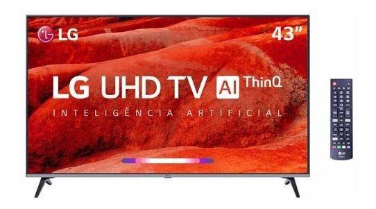 Smart Tv 4k Lg Led 43 4k Hrd Ativo E Wi-fi - 43um7510psb