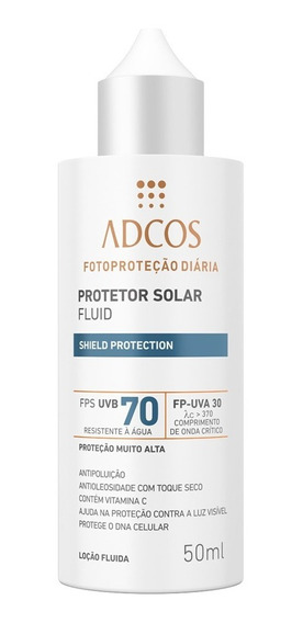 Protetor Solar Shield Protection Fps 70 Fluid Incolor Adcos 50ml