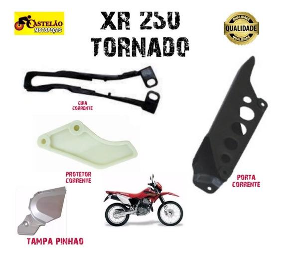 Protetor + Guia+porta Corrente + Tampa Pinhao Xr 250 Tornado