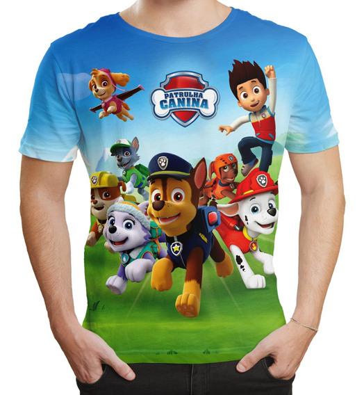Camiseta Masculina Adulta Patrulha Canina