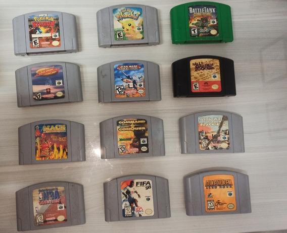 Lote De Jogos N64 12 Jogos Americanos Originais Imperdível