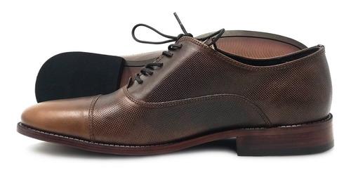 Imagen 1 de 2 de Zapato Oxford De Vestir Para Caballero Fina Piel Vacuno