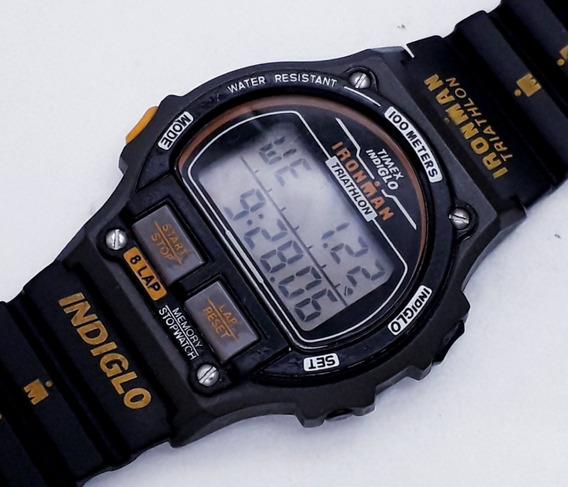 Relógio Timex Ironman Indiglo Triathlon Coleção Década De 90
