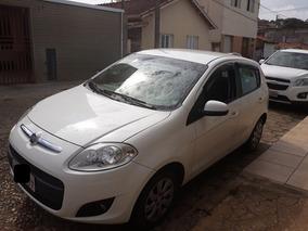 Fiat Palio Attractive 1.0 Flex 2014 Branco Com Ar E Direção