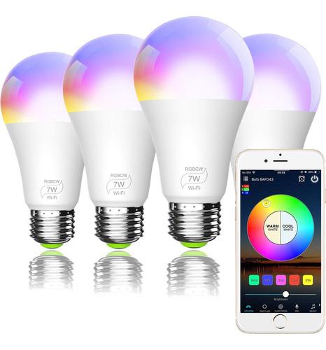 Imagen 1 de 7 de Luz Wifi Inteligente Compatible Con Alexa Google Home Siri