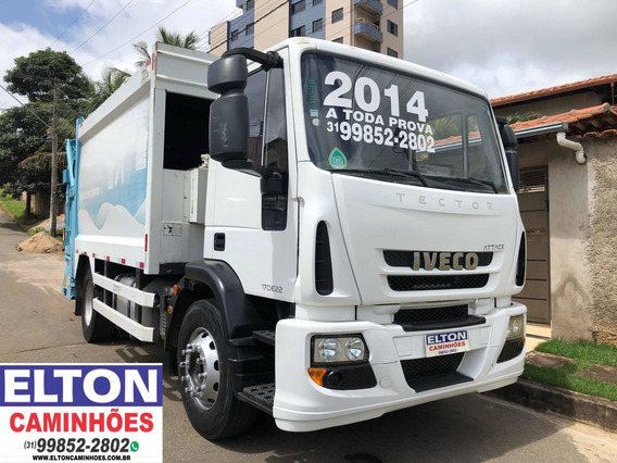 Caminhao Compactador De Lixo Iveco Tector 2014 A Toda Prova