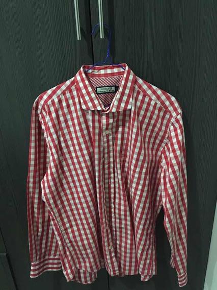 Camisa Roja Con Blanco (cuadros)