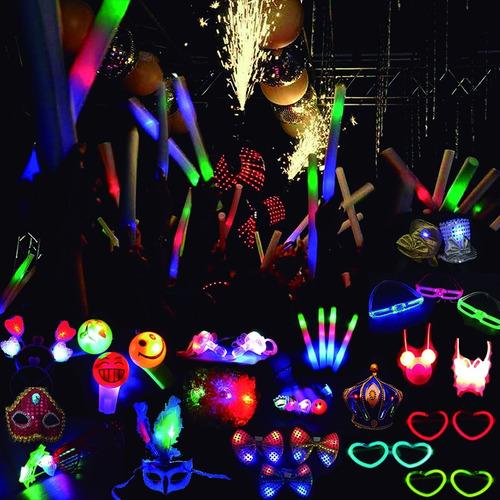 Imagen 1 de 5 de Pack 15 Lentes Luminosos Surtidos Led Y Neon Combo Cotillon