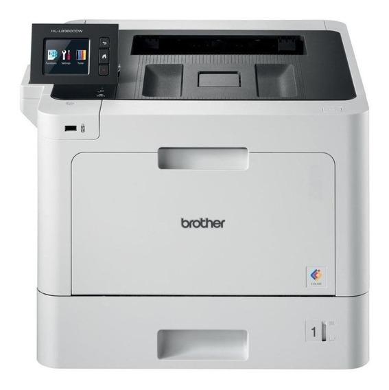 Impressora a cor Brother HL-L8 Series HL-L8360CDW com Wi-Fi 110V branca e preta
