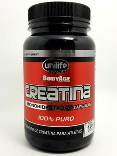 Creatina Monohidratada 100% Pura 180c 720mg Unilife
