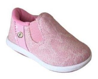 Tenis Infantil Kidy Colors 4161 Respi-tec Nude/rosa