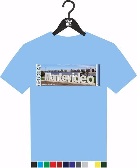 Remera A Todo Color Uruguay Turístico, Diseño Montevideo