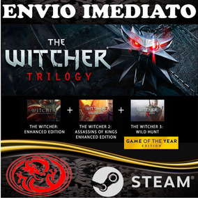The Witcher Coleção 1, 2 E 3 Pc Original Steam + Dlc
